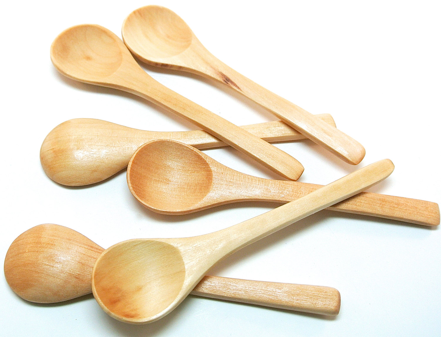 Russian Wooden Small Spoons